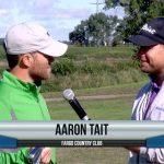 Aaron Tait being interviewed by Dave Schultz
