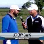 Jeremy Davis being interviewed by Dave Schultz