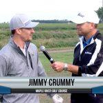 Jimmy Crummy being interviewed by Dave Schultz