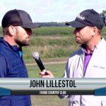 John Lillestol being interviewed by Dave Schultz