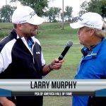 Larry Murphy being interviewed by Dave Schultz