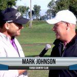 Mark Johnson being interviewed by Dave Schultz