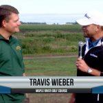 Travis Wieber being interviewed by Dave Schultz