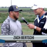 Zach Bertschi being interviewed by Dave Schultz