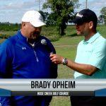 Brady Opheim being interviewed by Dave Schultz