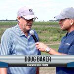 Doug Baker being interviewed by Dave Schultz