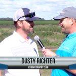 Dusty Richter being interviewed by Dave Schultz