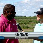 Jon Adams being interviewed by Dave Schultz
