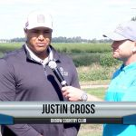Justin Cross being interviewed by Dave Schultz