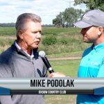 Mike Podolak being interviewed by Dave Schultz