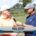 Paul Ostby being interviewed by Dave Schultz