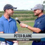 Peter Blaine being interviewed by Dave Schultz