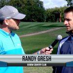 Randy Gresh being interviewed by Dave Schultz