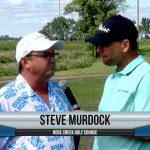 Steve Murdock being interviewed by Dave Schultz