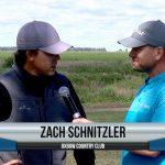 Zach Schnitzler being interviewed by Dave Schultz
