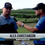 Alex Christianson being interviewed by Dave Schultz