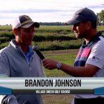 Brandon Johnson being interviewed by Dave Schultz