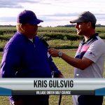 Kris Gulsvig being interviewed by Dave Schultz