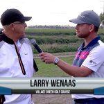 Larry Wenaas being interviewed by Dave Schultz