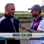 Mark Ecklund being interviewed by Dave Schultz
