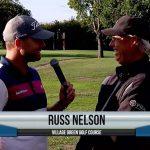 Russ Nelson being interviewed by Dave Schultz