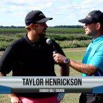 Taylor Herickson being interviewed by Dave Schultz
