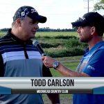 Todd Carlson being interviewed by Dave Schultz
