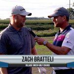 Zach Bratteli being interviewed by Dave Schultz
